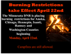 Burning Restrictions In Effect