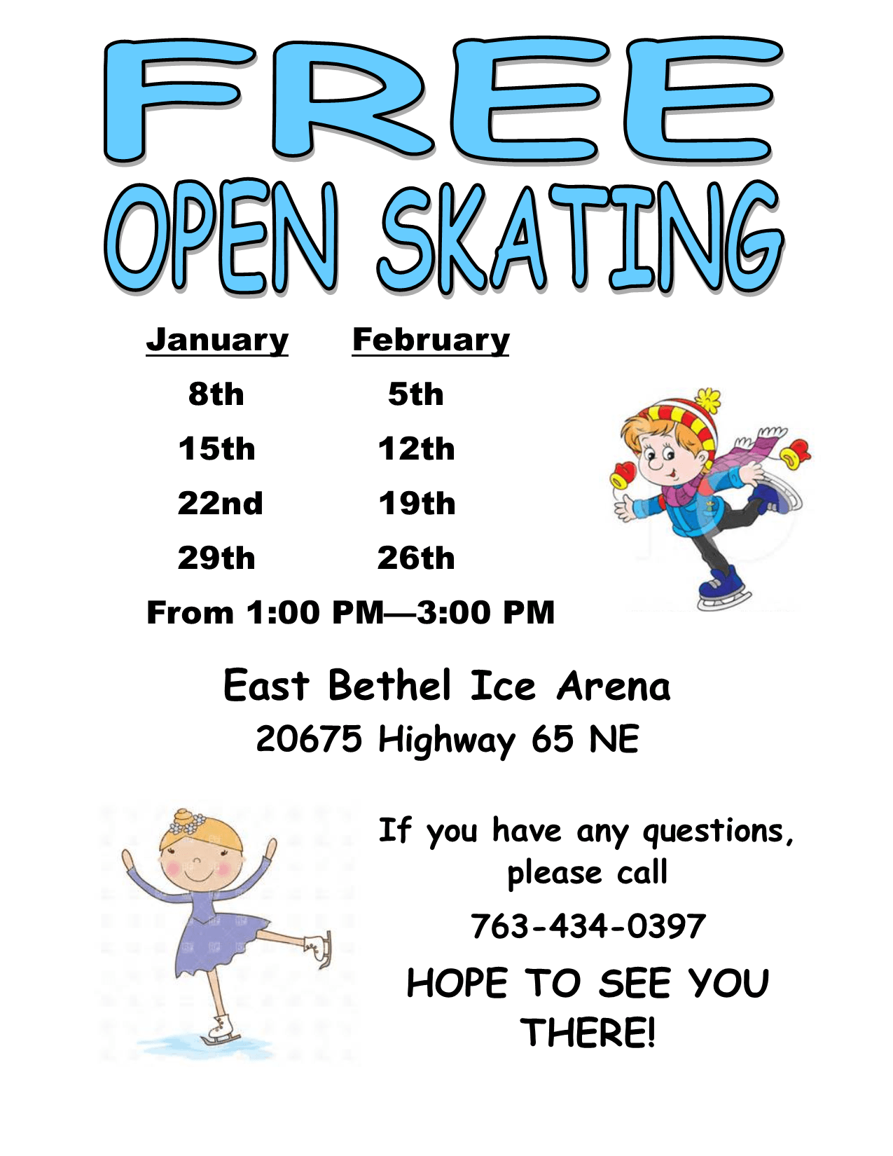 2020 Wednesdays Open Skating