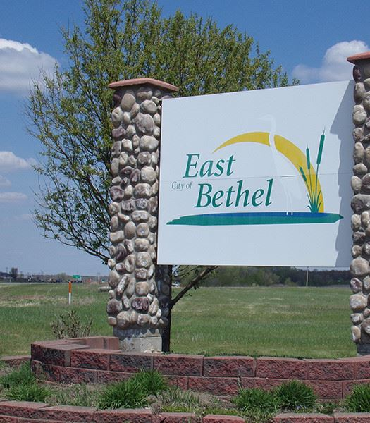 City of East Bethel Welcome Sign