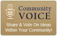 Community Voice - Share and Vote on Ideas Within Your Community!